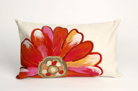 Trans-Ocean Import Co., Inc. - Visions III Daisy Orange Pillow - 7SC1S314917