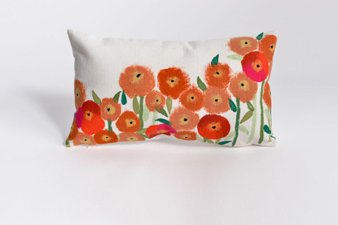 Trans-Ocean Import Co., Inc. - Visions III Poppies Red Pillow - 7SC1S320924