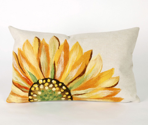 Trans-Ocean Import Co., Inc. - Visions III Sunflower Yellow Pillow - 7SC1S321609