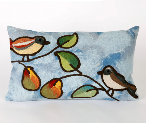 Trans-Ocean Import Co., Inc. - Visions III Song Birds Blue Pillow - 7SC1S411903