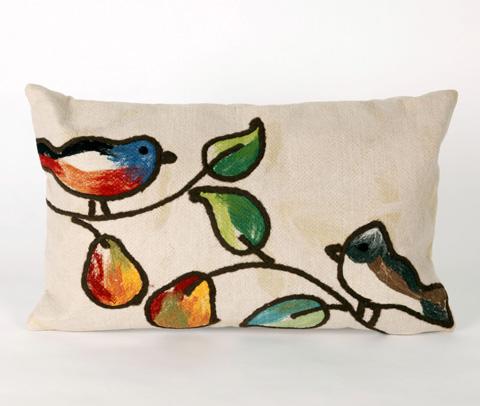 Trans-Ocean Import Co., Inc. - Visions III Song Birds Cream Pillow - 7SC1S411912