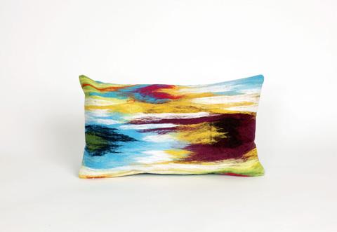 Trans-Ocean Import Co., Inc. - Visions III Ikat Splash Multi Pillow - 7SC1S416544