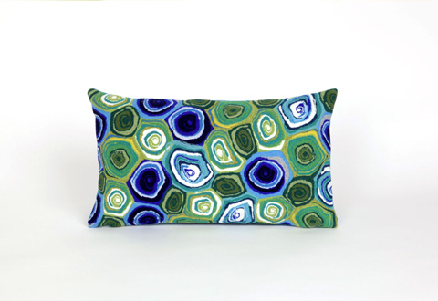 Trans-Ocean Import Co., Inc. - Visions III Murano Swirl Caribbean Pillow - 7SC1S416694