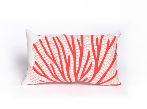 Trans-Ocean Import Co., Inc. - Visions III Coral Fan Coral Pillow - 7SC1S418517