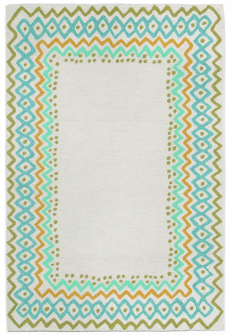 Trans-Ocean Import Co., Inc. - Capri Ethnic Border Cool 5x8 Rug - CAP57160706