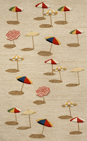 Image of Frontporch Beach Umbrella Natura 5x8 Rugl