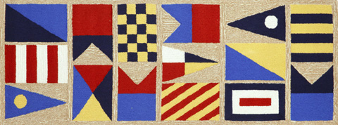 Trans-Ocean Import Co., Inc. - Frontporch Signal Flags Natural 2x8 Rug - FTPR6140312
