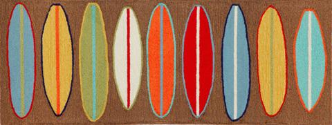 Trans-Ocean Import Co., Inc. - Frontporch Surfboards Brown 2x8 Rug - FTPR6140619