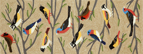 Image of Frontporch Birds Multi 2x8 Rug