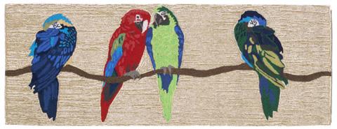 Trans-Ocean Import Co., Inc. - Frontporch Parrots Bright 2x8 Rug - FTPR6149244