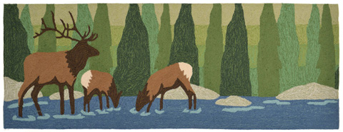 Image of Frontporch Elk Forest 2x8 Rug