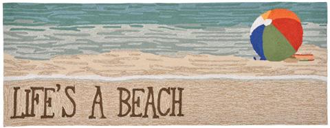 Trans-Ocean Import Co., Inc. - Frontporch Life's A Beach Sand 2x8 Rug - FTPR6151612