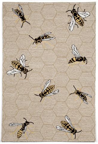 Trans-Ocean Import Co., Inc. - Napa Honey Bee Neutral 5x8 Rug - NPA57110712