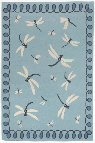 Image of Napa Dragonfly Blue 5x8 Rug