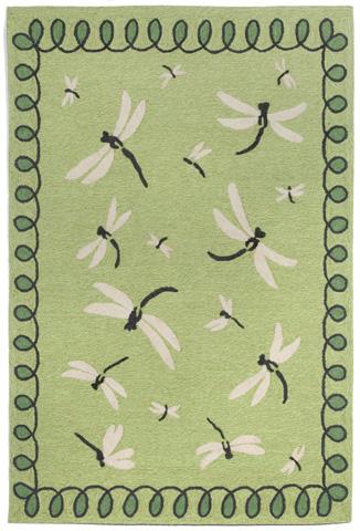 Trans-Ocean Import Co., Inc. - Napa Dragonfly Green 5x8 Rug - NPA57111006