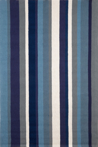 Trans-Ocean Import Co., Inc. - Newport Vertical Stripe Marine 5x8 Rug - NWP57166003