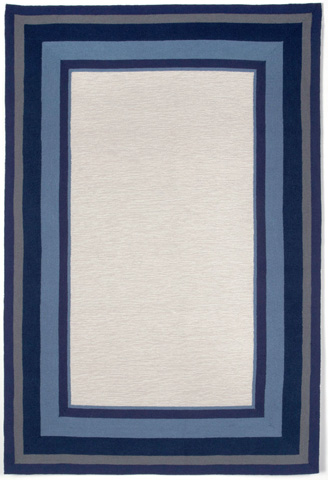 Trans-Ocean Import Co., Inc. - Newport Multi Border Marine 5x8 Rug - NWP57166103