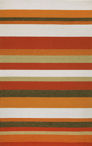 Trans-Ocean Import Co., Inc. - Ravella Stripe Orange 5x8 Rug - RVL57190017
