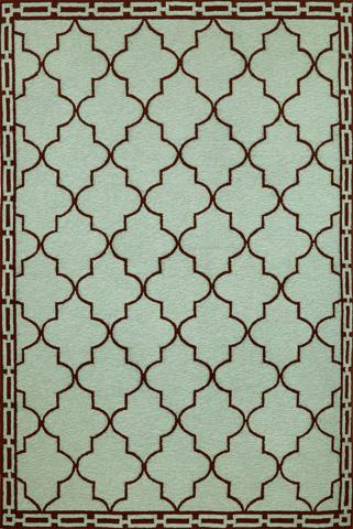 Trans-Ocean Import Co., Inc. - Ravella Floor Tile Aqua 5x8 Rug - RVL57197603