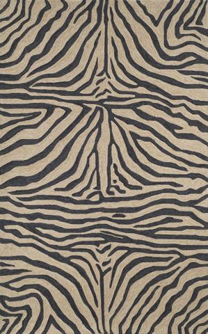 Trans-Ocean Import Co., Inc. - Ravella Zebra Black 5x8 Rug - RVL57203348