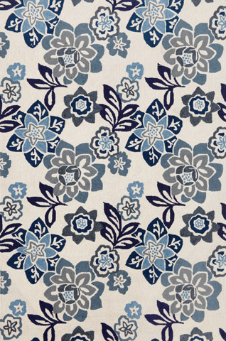Trans-Ocean Import Co., Inc. - Ravella Floral China Blue 5x8 Rug - RVL57218003