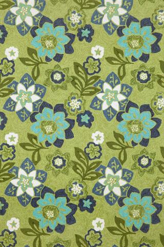 Trans-Ocean Import Co., Inc. - Ravella Floral Green 5x8 Rug - RVL57218006