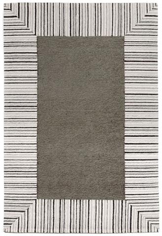 Trans-Ocean Import Co., Inc. - Ravella Pin Stripe Border Grey 5x8 Rug - RVL57225447