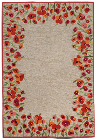 Trans-Ocean Import Co., Inc. - Ravella Poppies Red 5x8 Rug - RVL57225924