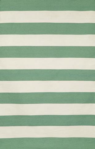 Trans-Ocean Import Co., Inc. - Sorrento Rugby Stripe Aqua 5x8 Rug - SRN57630204