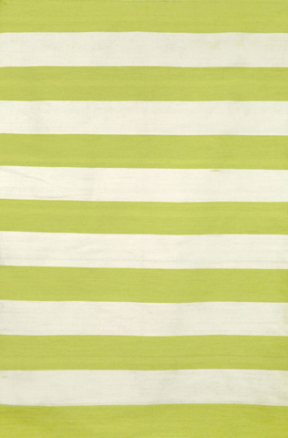Trans-Ocean Import Co., Inc. - Sorrento Rugby Stripe Lime 5x8 Rug - SRN57630216