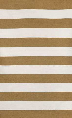 Trans-Ocean Import Co., Inc. - Sorrento Rugby Stripe Khaki 5x8 Rug - SRN57630226