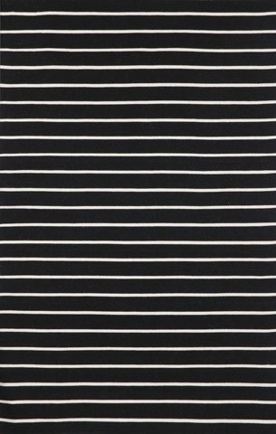 Trans-Ocean Import Co., Inc. - Sorrento Pinstripe Black 5x8 Rug - SRN57630548
