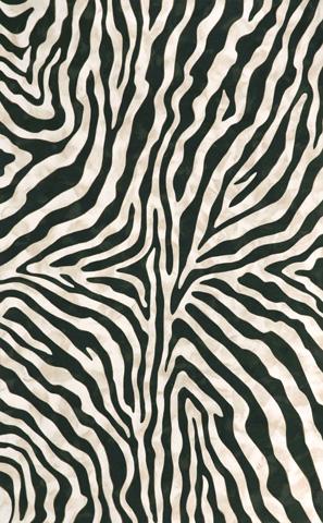 Trans-Ocean Import Co., Inc. - Visions I Zebra Black 5x8 Rug - VAF58304348