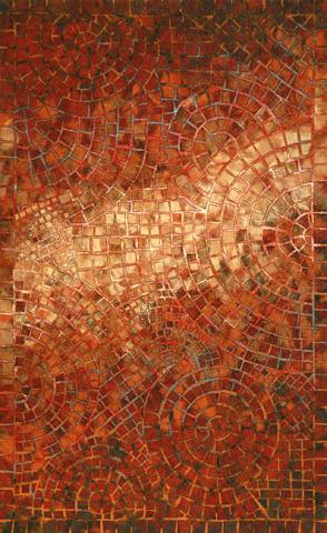 Trans-Ocean Import Co., Inc. - Visions V Arch Tile Red 5x8 Rug - VHI58325724