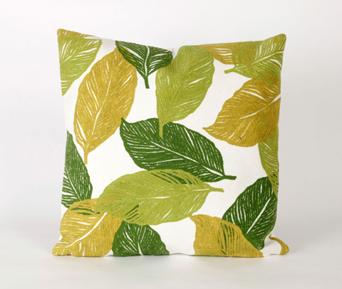 Trans-Ocean Import Co., Inc. - Visions I Mystic Leaf Green Throw Pillow - 7SA2S405106