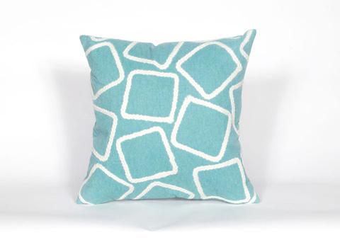 Trans-Ocean Import Co., Inc. - Visions I Squares Aqua Throw Pillow - 7SA2S408704