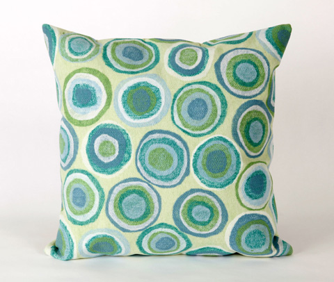 Trans-Ocean Import Co., Inc. - Visions II Puddle Dot Spa Throw Pillow - 7SB2S412804