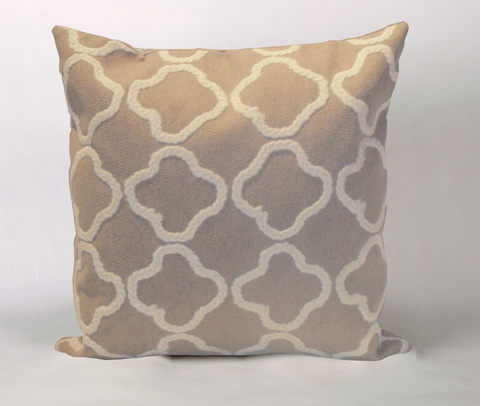 Trans-Ocean Import Co., Inc. - Visions II Crochet Tile Linen Throw Pillow - 7SB2S413211