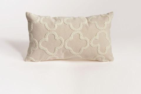 Trans-Ocean Import Co., Inc. - Visions II Crochet Tile White Throw Pillow - 7SB2S413212
