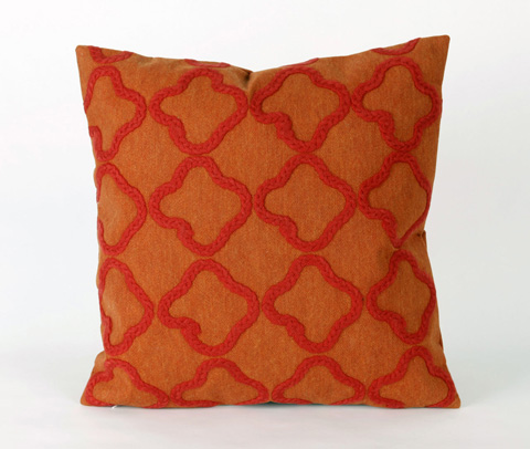 Trans-Ocean Import Co., Inc. - Visions II Crochet Tile Orange Throw Pillow - 7SB2S413217