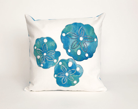 Trans-Ocean Import Co., Inc. - Visions II Sand Dollar Pearl Throw Pillow - 7SB2S414012