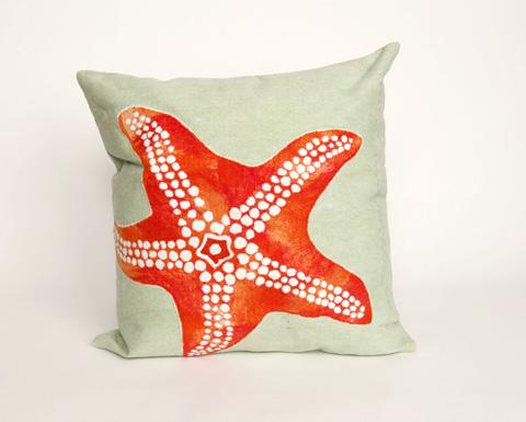 Trans-Ocean Import Co., Inc. - Visions II Starfish Seafoam Throw Pillow - 7SB2S414116