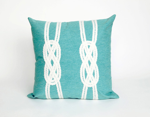 Trans-Ocean Import Co., Inc. - Visions II Double Knot Aqua Throw Pillow - 7SB2S414204