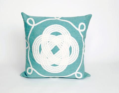 Trans-Ocean Import Co., Inc. - Visions II Ornamental Knot Aqua Throw Pillow - 7SB2S414304