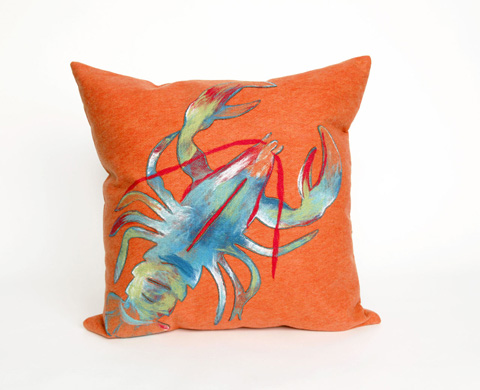 Trans-Ocean Import Co., Inc. - Visions II Lobster Orange Throw Pillow - 7SB2S415317