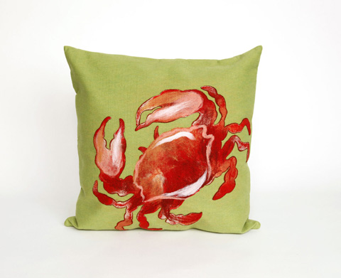 Trans-Ocean Import Co., Inc. - Visions II Crab Red Throw Pillow - 7SB2S415424