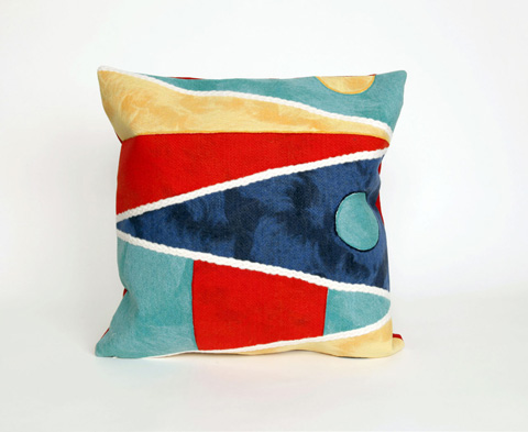 Trans-Ocean Import Co., Inc. - Visions II Flags Multi Throw Pillow - 7SB2S415744