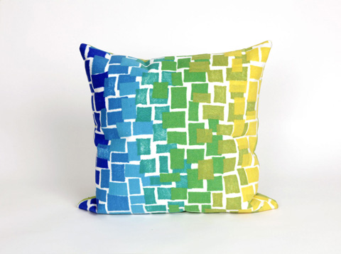 Trans-Ocean Import Co., Inc. - Visions II Ombre Tile Cool Throw Pillow - 7SB2S415906