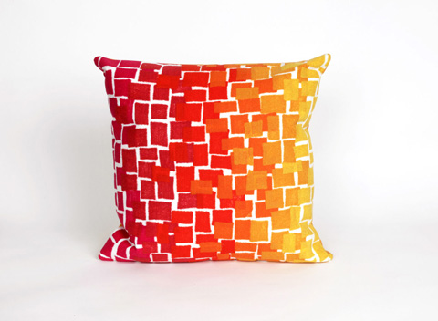 Trans-Ocean Import Co., Inc. - Visions II Ombre Tile Warm Throw Pillow - 7SB2S415924