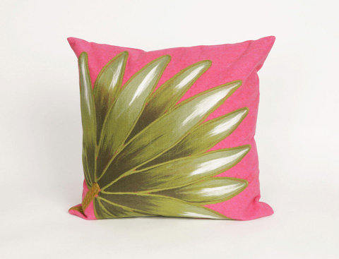 Trans-Ocean Import Co., Inc. - Visions II Palm Fan Hot Pink Throw Pillow - 7SB2S416807